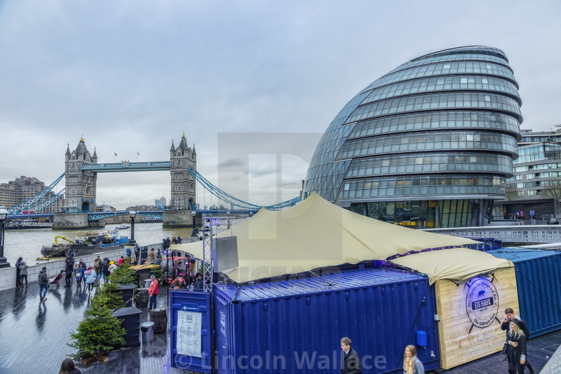 """Wet & Windy City Hall"" stock image"