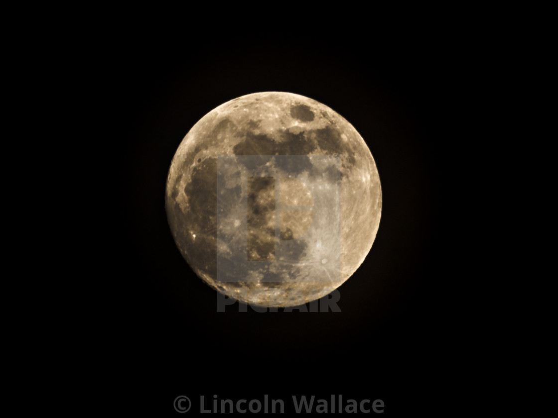"""""""Super Moon from Notting Hill London"""" stock image"""