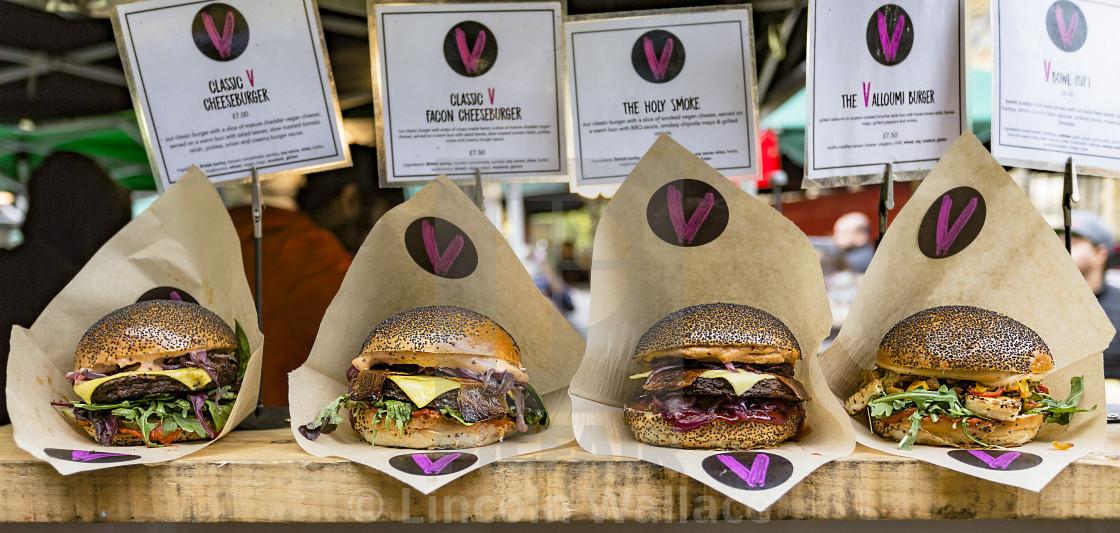 """Veggie Burger"" stock image"