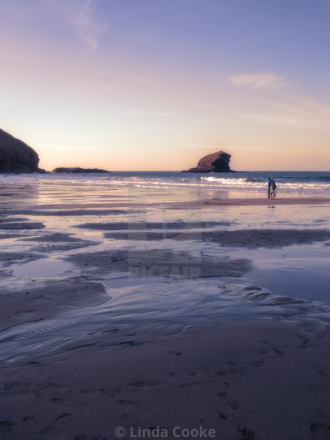 """Portreath sunset"" stock image"