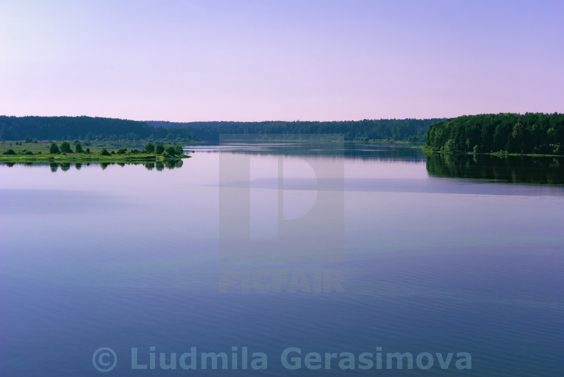 """Fine Day on a Calm River"" stock image"