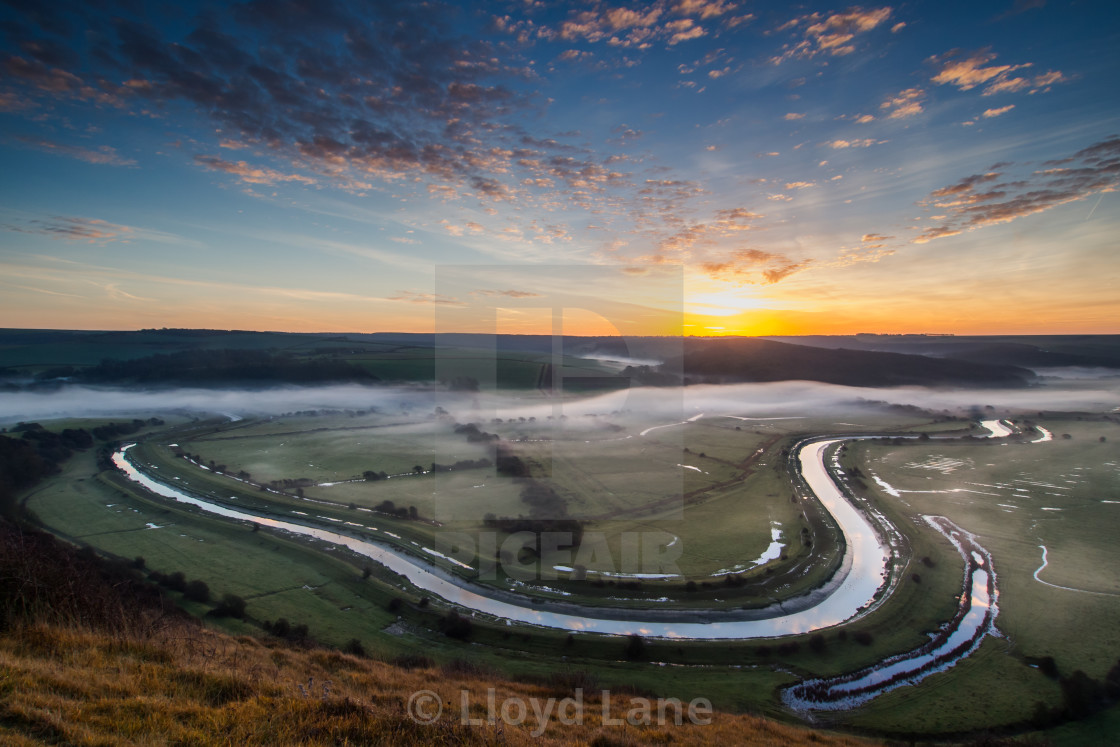 """Dawn at Cuckmere Haven"" stock image"