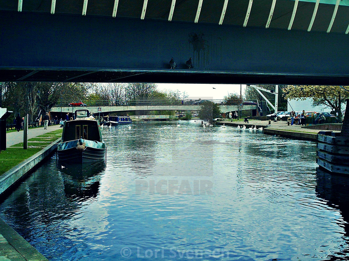 """Under Bridge Newbury"" stock image"