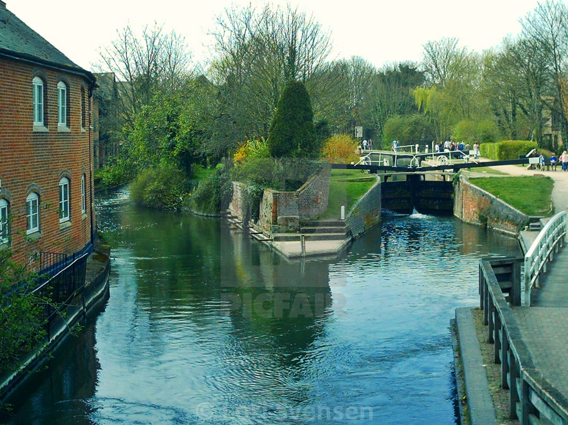"""""""River Kennet and Lock Newbury"""" stock image"""