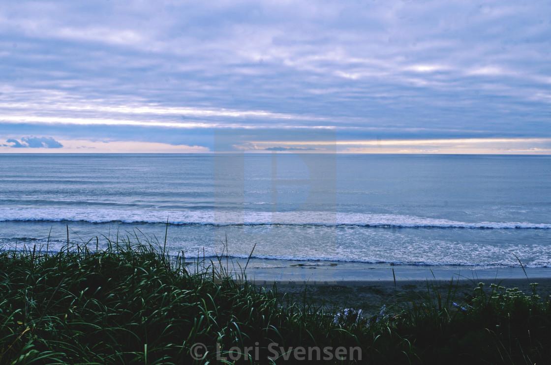 """Evening Pacific South Beach Washington"" stock image"