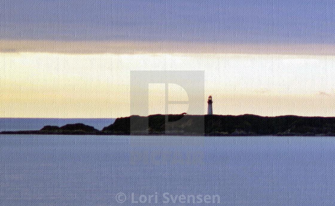 """Destruction Island Lighthouse Textured"" stock image"