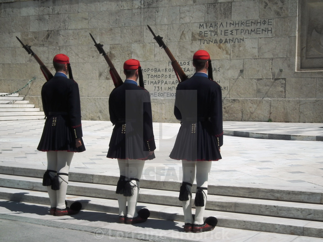 """""""Tomb of the unknown soldier, Athens"""" stock image"""