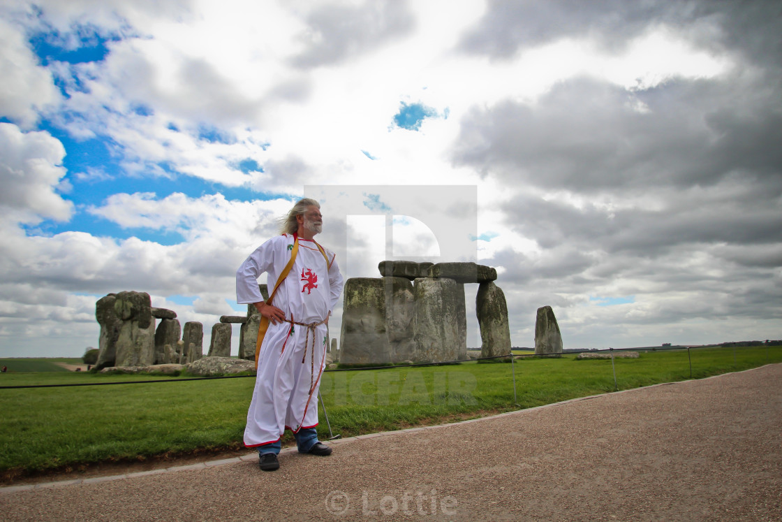 """Druid King Arthur of the Round Table"" stock image"