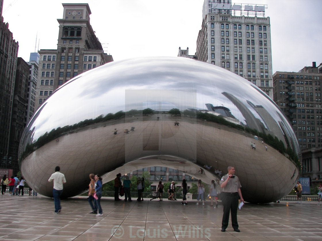 """The Bean, Chicago"" stock image"