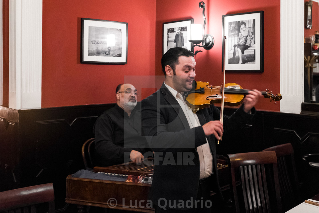 """Hungarian Musicians"" stock image"