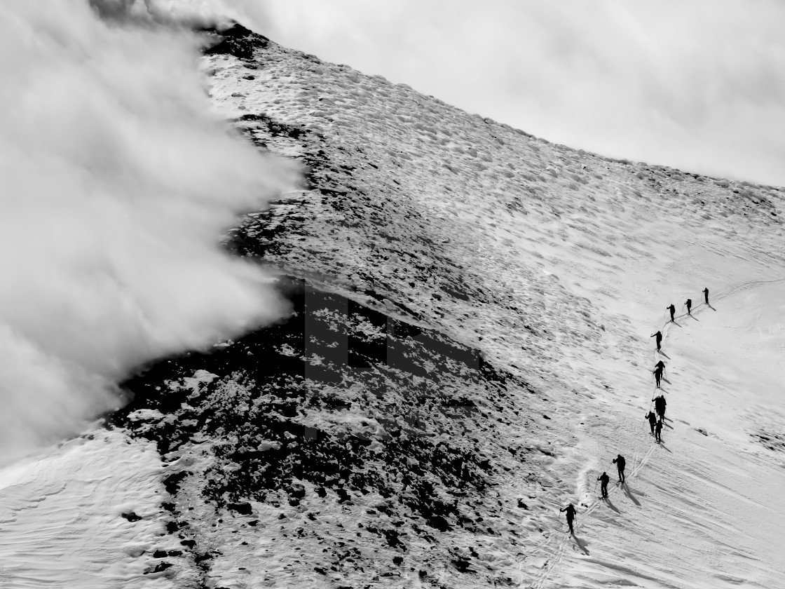 """""""Approaching the summit of Mount Etna"""" stock image"""