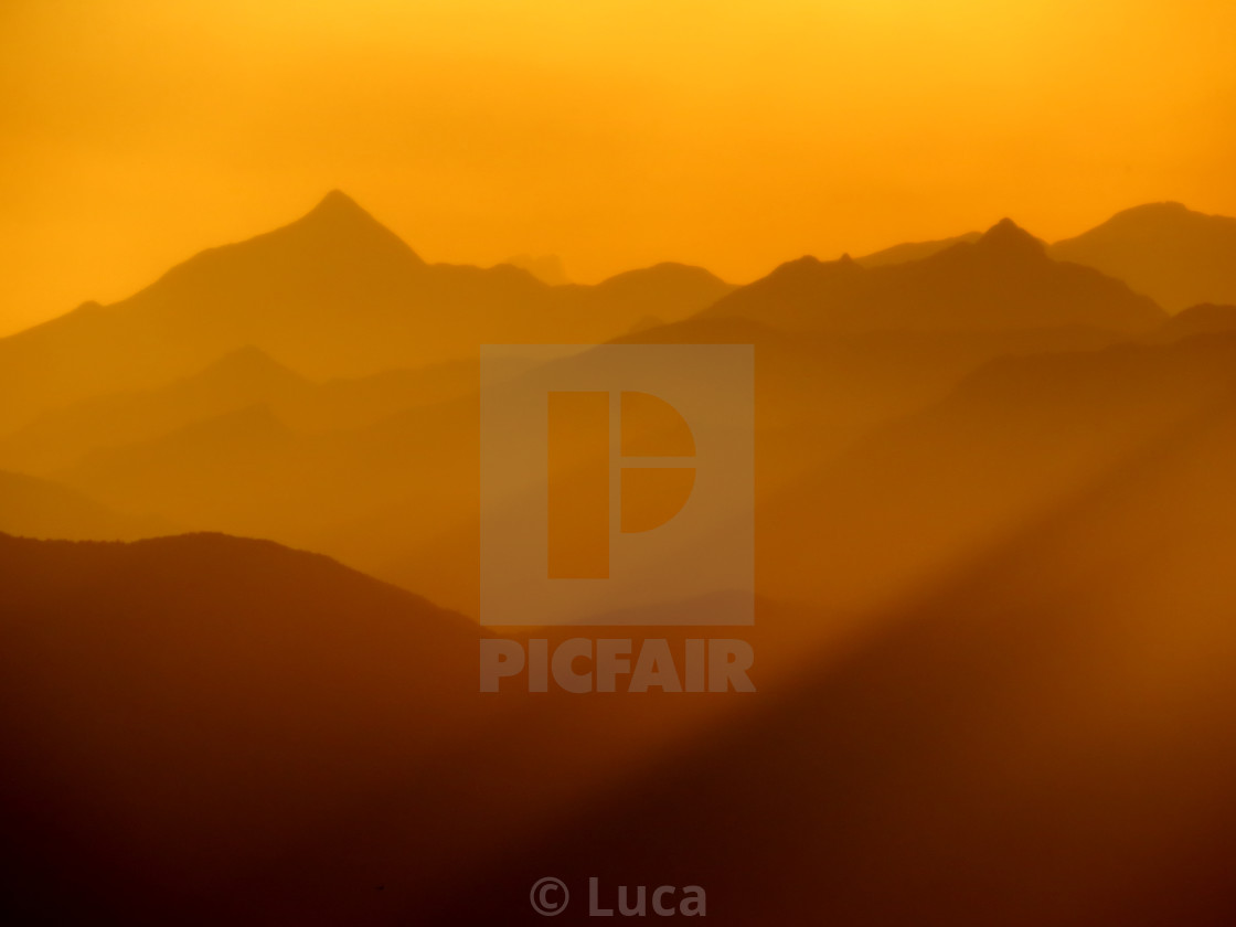 """""""Sunset after a storm"""" stock image"""