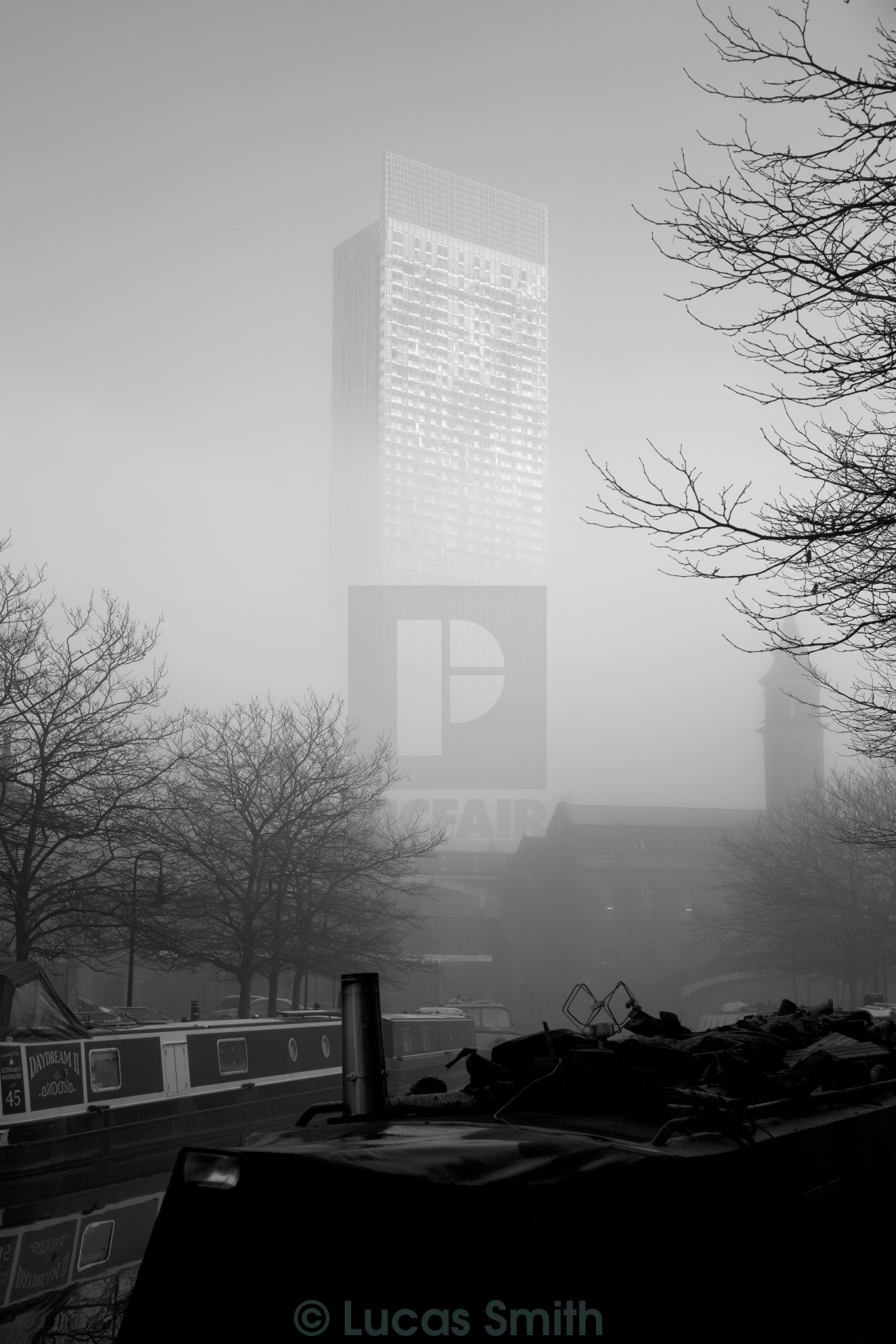 """Beacon In The Fog I"" stock image"