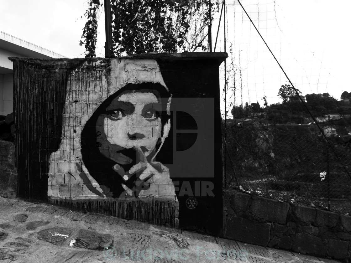 """Shhh...says the girl ~ Graffiti"" stock image"