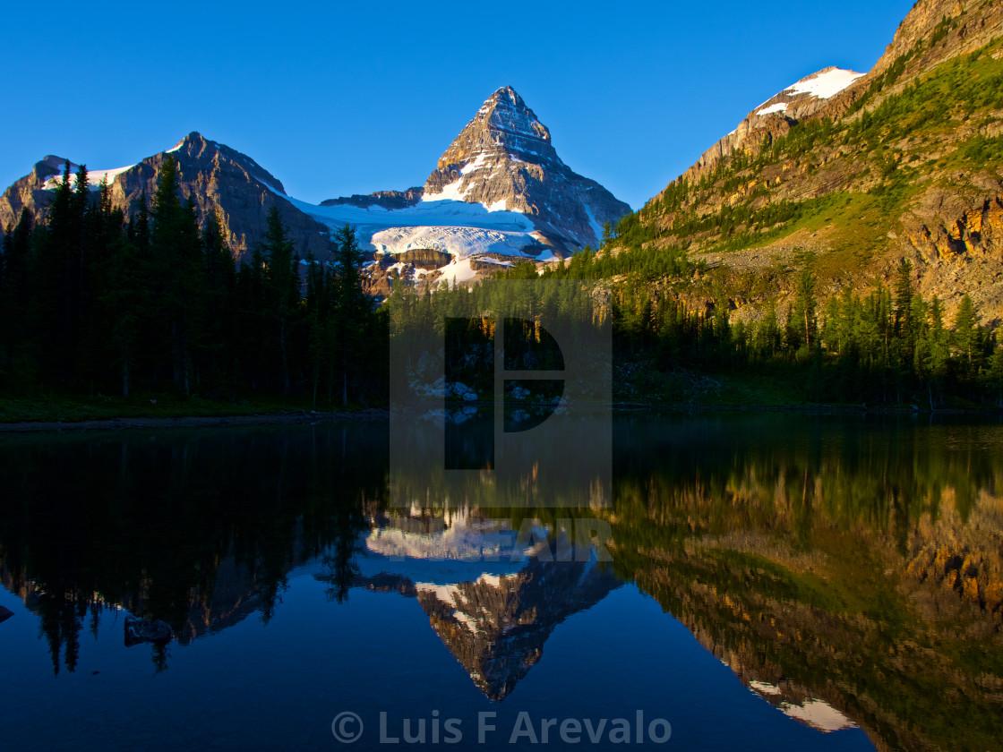"""Assiniboine Reflection"" stock image"