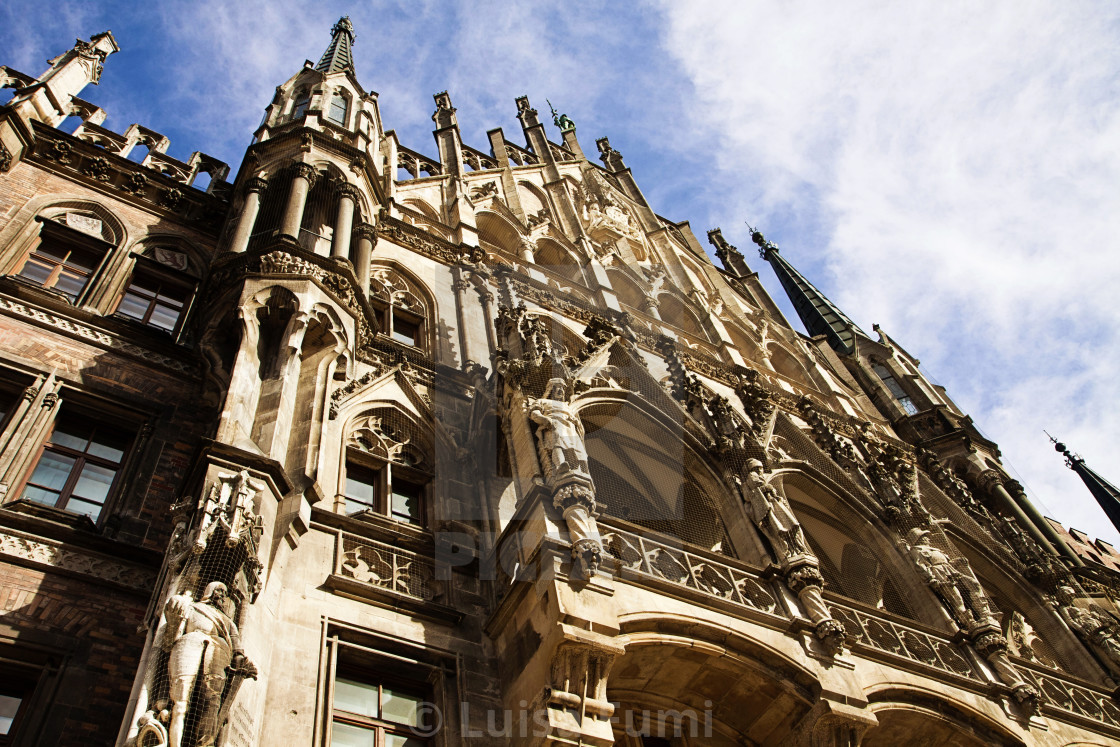 """Munich, Germany, view of the Rathaus (City Hall) in Marienplatz"" stock image"