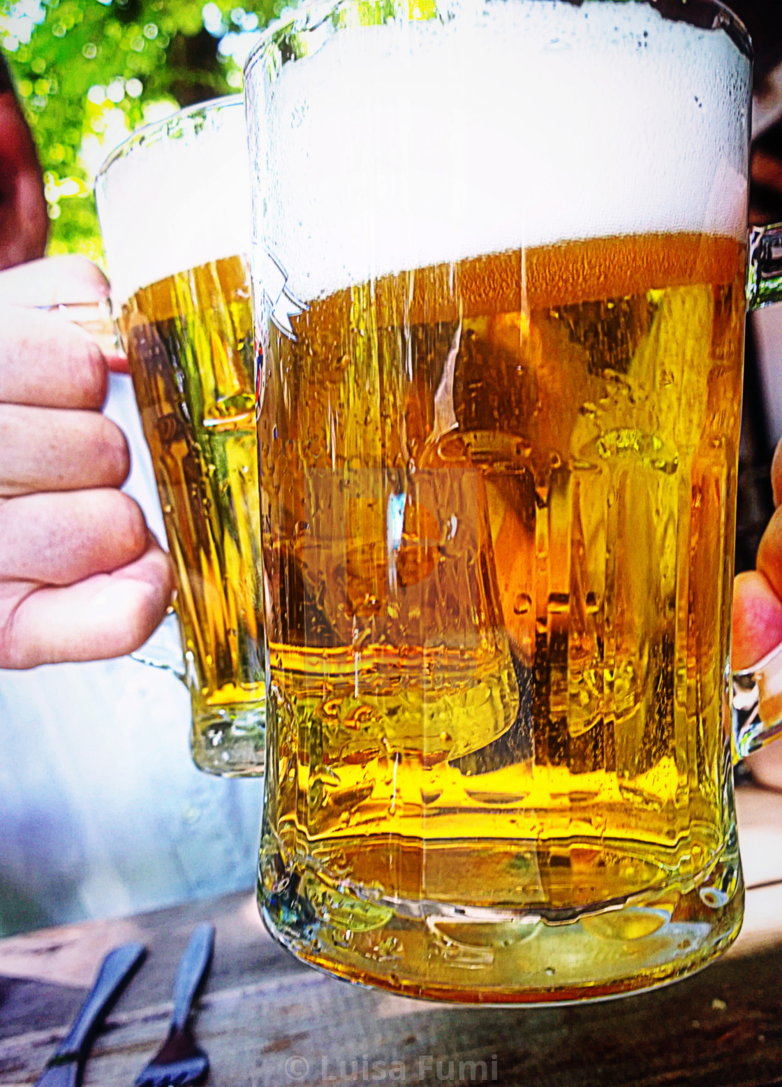 """Traditional prosit with beer"" stock image"