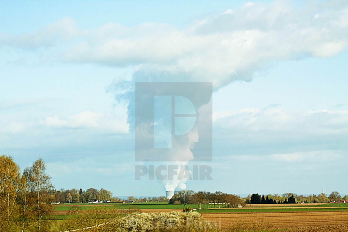 """Germany, nuclear power plant in Baden-Württemberg"" stock image"
