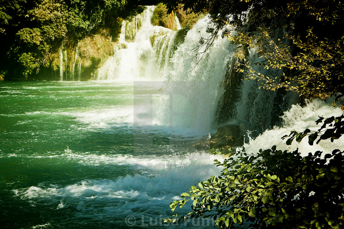 """Krka waterfalls, Croatia Krka National park"" stock image"