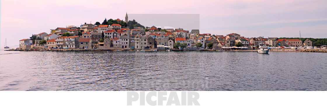 """Croatia, panoramic view of Primosten"" stock image"