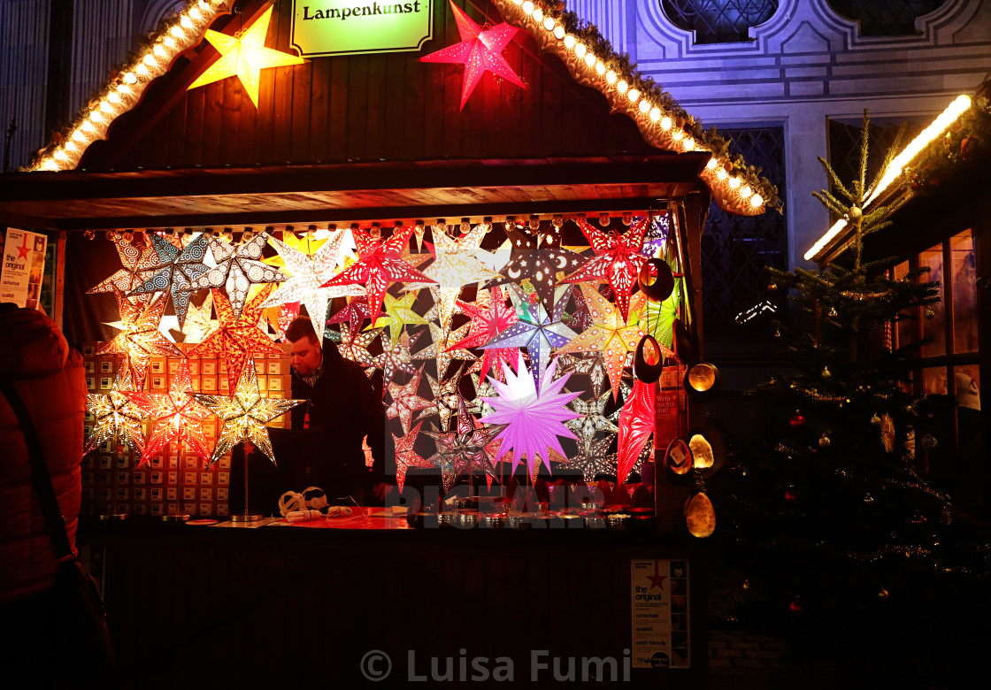 """Munich, Christmas market at Residenz Kaiserhof"" stock image"