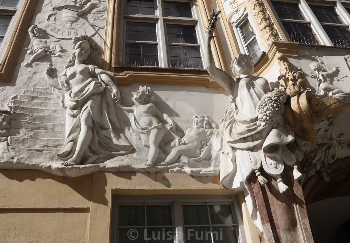 """Asam House in Munich, more than baroque ...rococo !"" stock image"
