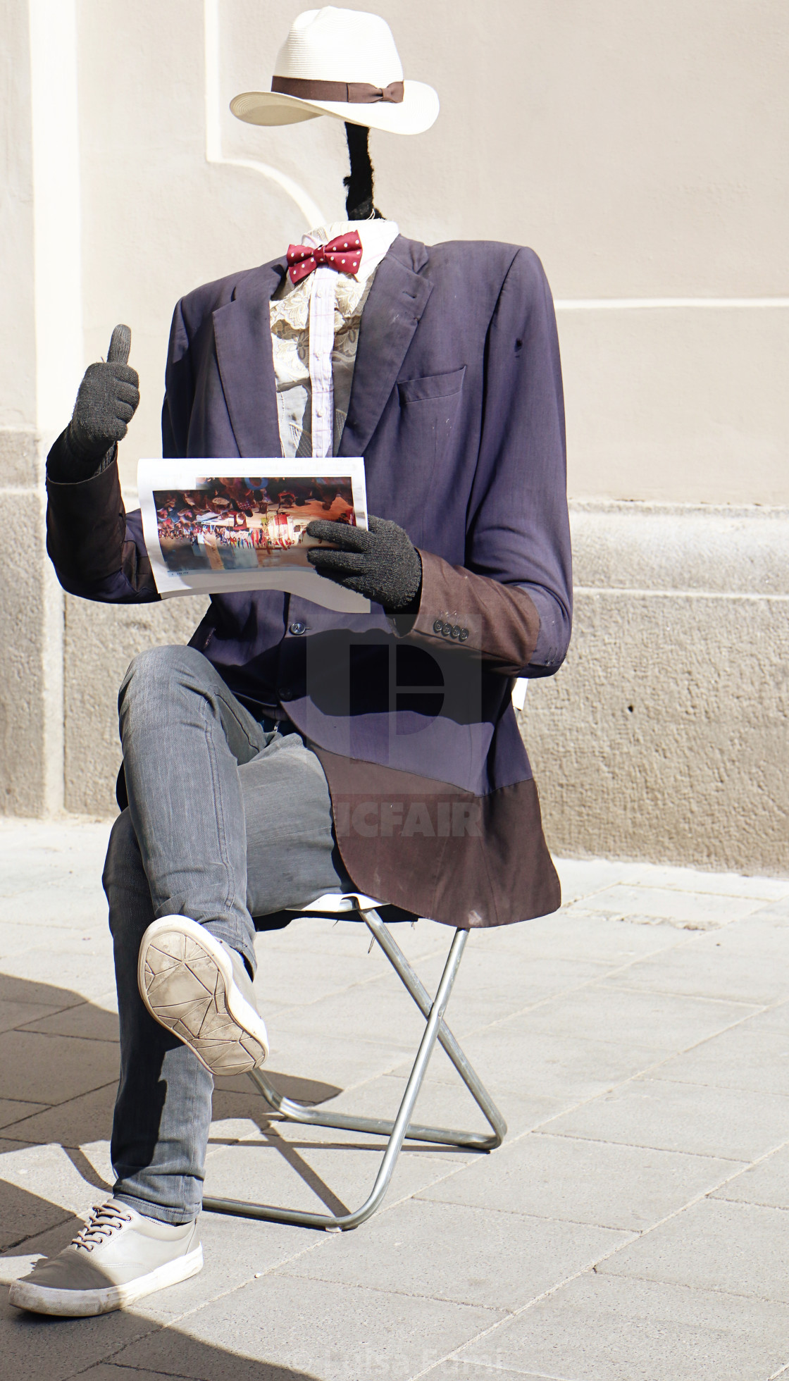 """MUNICH, funny street art performer"" stock image"
