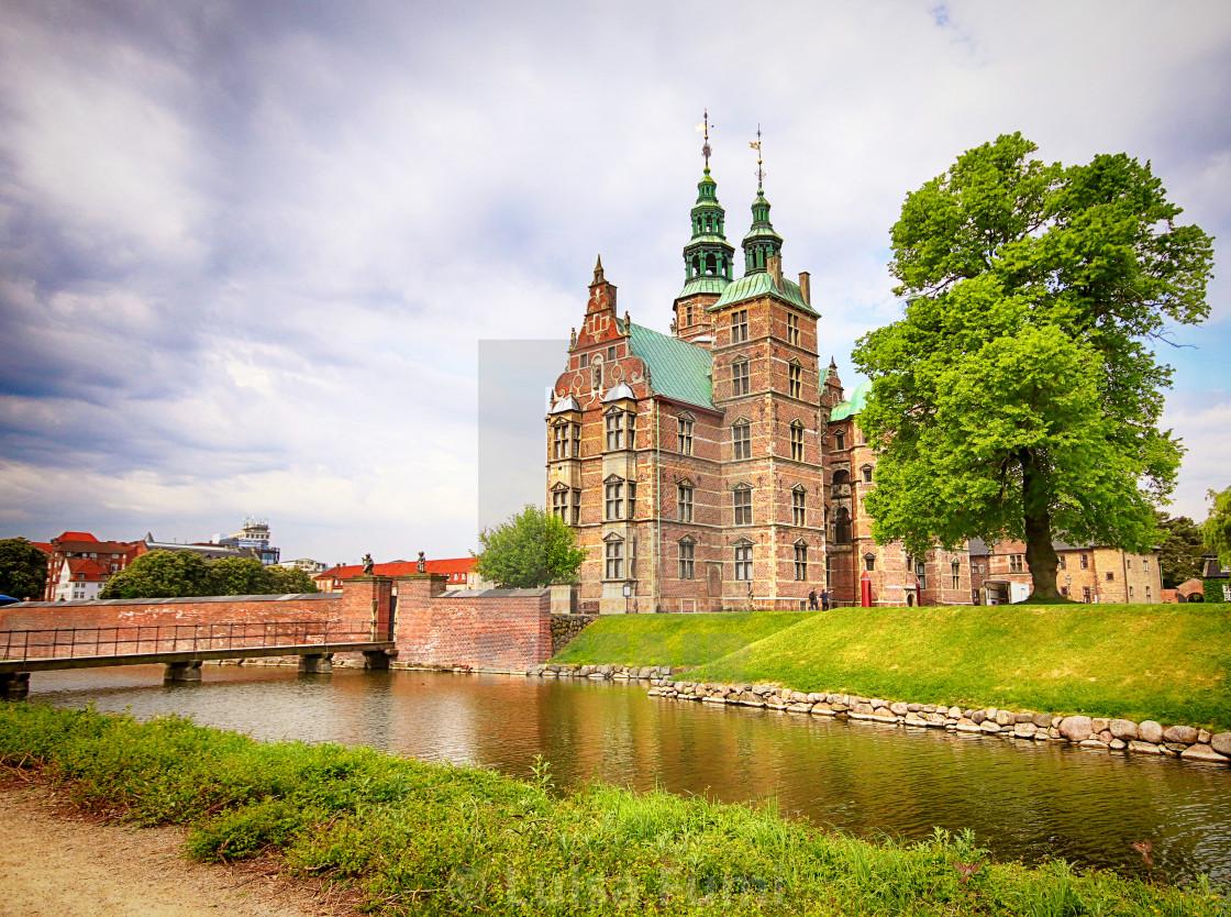 """""""COPENHAGEN, DENMARK - Beautiful view of Rosenborg castle"""" stock image"""