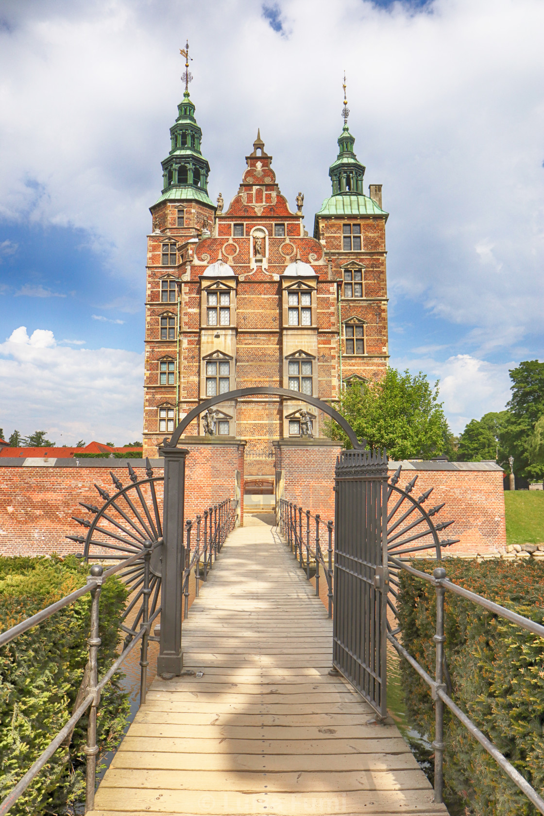 """COPENHAGEN, DENMARK -beautiful view of Rosenborg castle"" stock image"