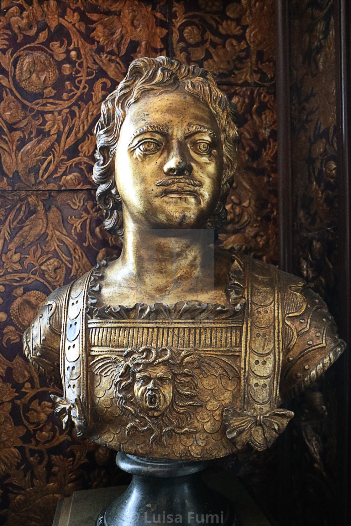 """COPENHAGEN, DENMARK - bust of Peter the Great at Rosenborg castle"" stock image"