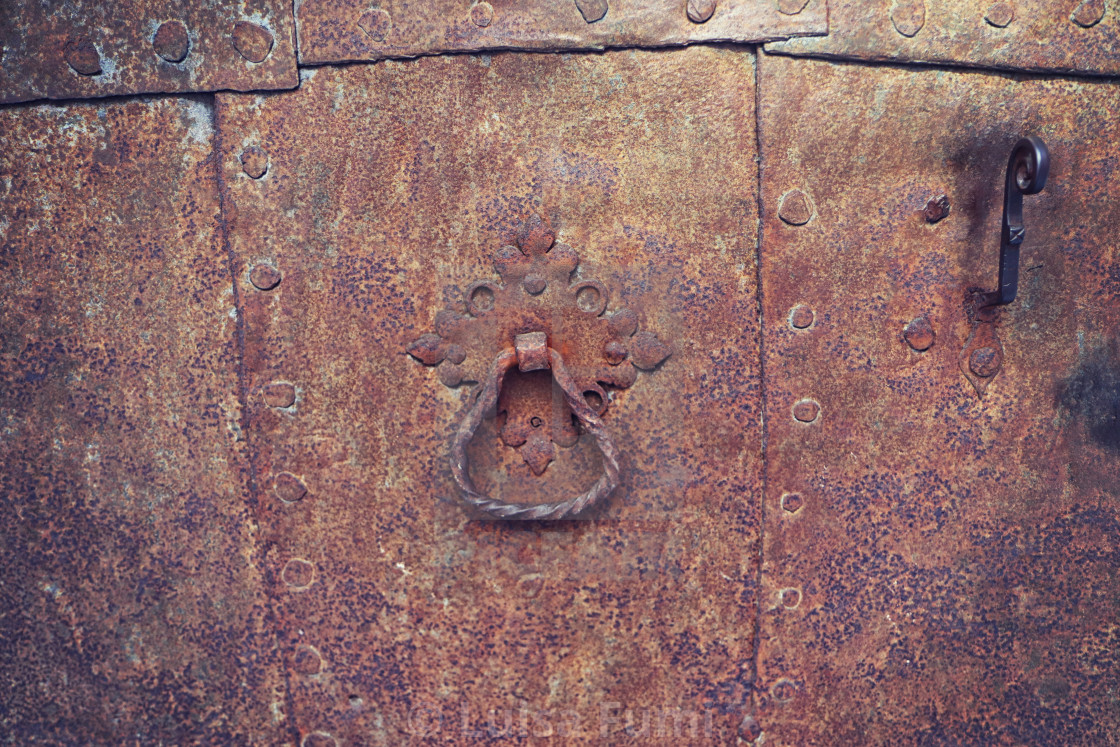 """material background: iron rusty ancient gate"" stock image"