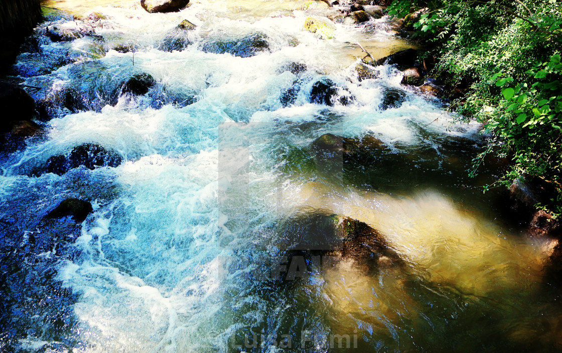 """Fresh river running waters"" stock image"