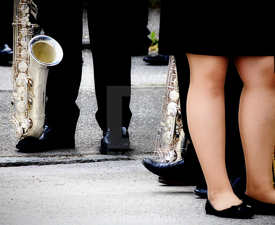 """""""Brass band in formal dress"""" stock image"""