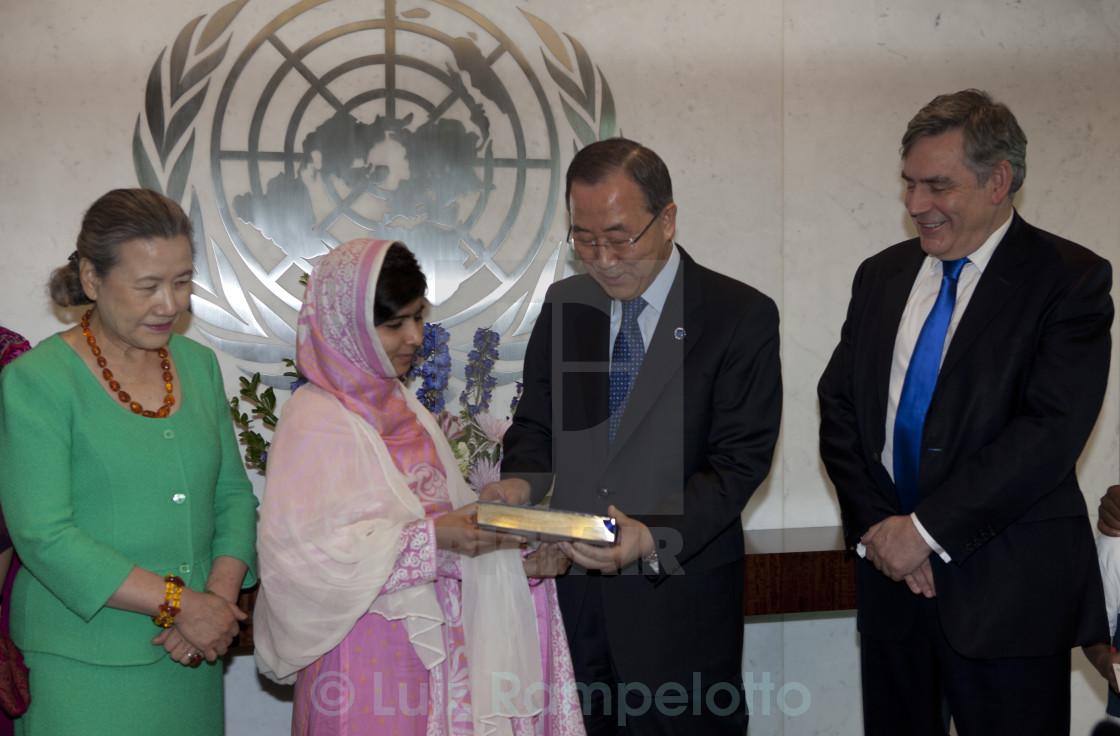 """""""Malala Yousafzai at United Nations"""" stock image"""