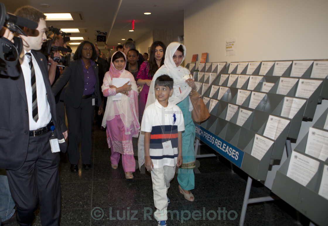 """Malala Yousafzai at United Nations"" stock image"