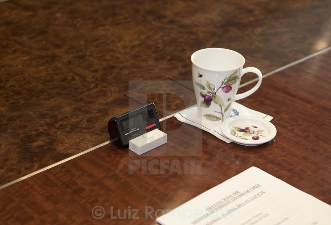 """Ban Ki Moon Tea Cup"" stock image"