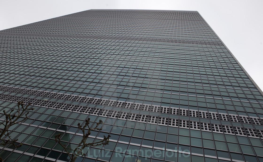 """""""United Nations Secretariat Building"""" stock image"""