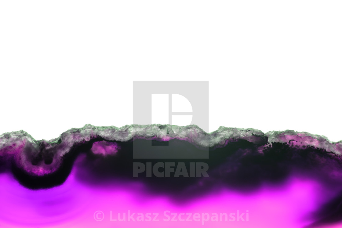 """""""Abstract background, purple ultraviolet mineral cross section isolated on white background"""" stock image"""