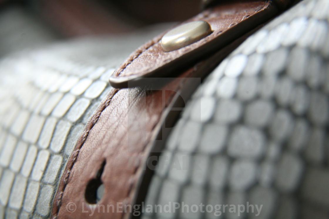 """Blue leather"" stock image"
