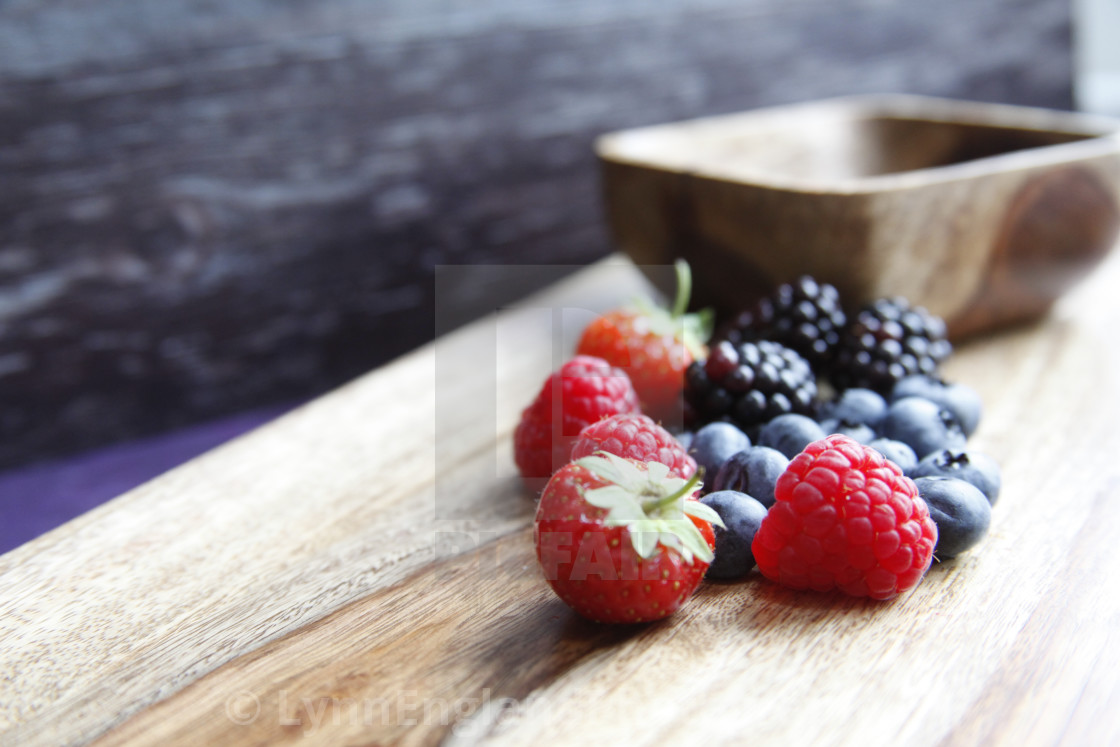 """""""With love from Berry country"""" stock image"""