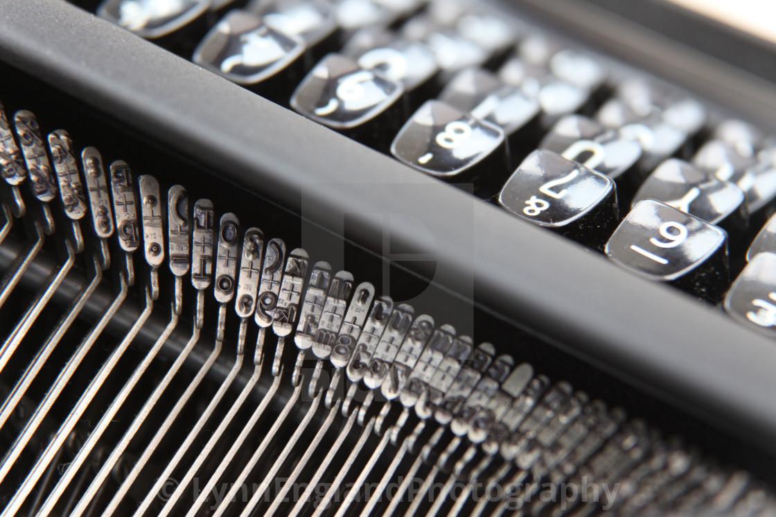 """""""Typewriter keys closeup"""" stock image"""