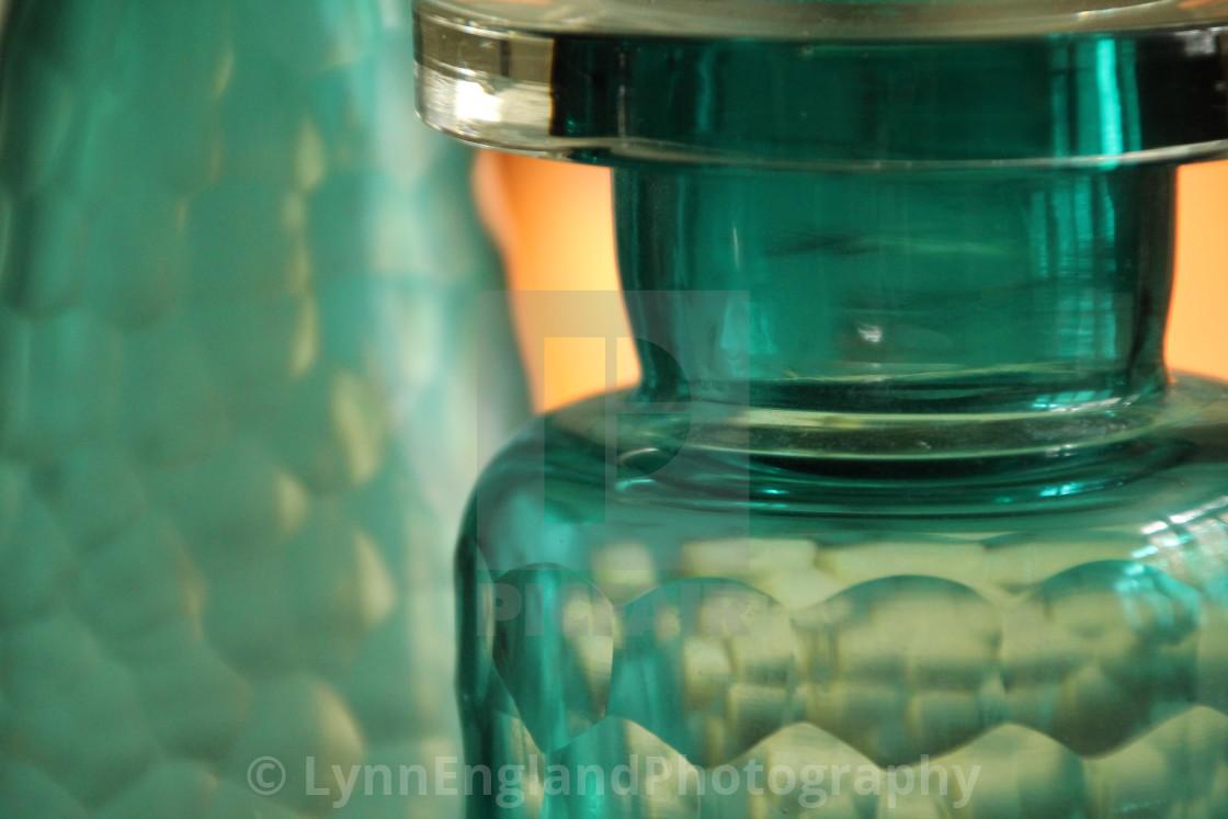 """""""Studies in glass ...bottles,"""" stock image"""