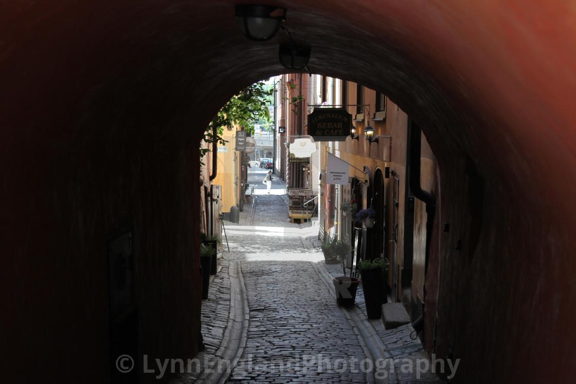 """Gamla Stan ...Old Town Stockholm"" stock image"