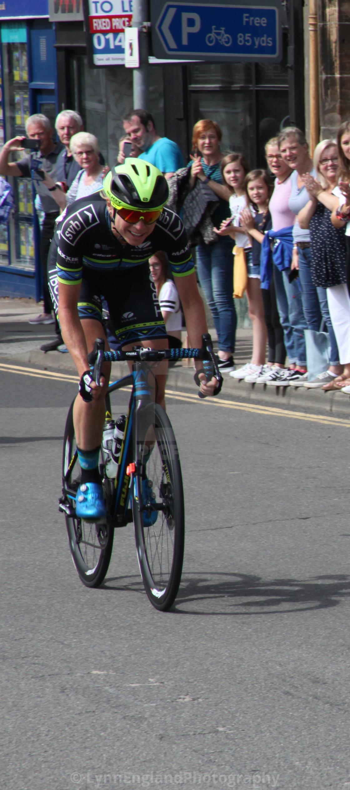 """Women's Tour of Scotland Stage 2 ,intermediate sprint winnerin Crieff"" stock image"