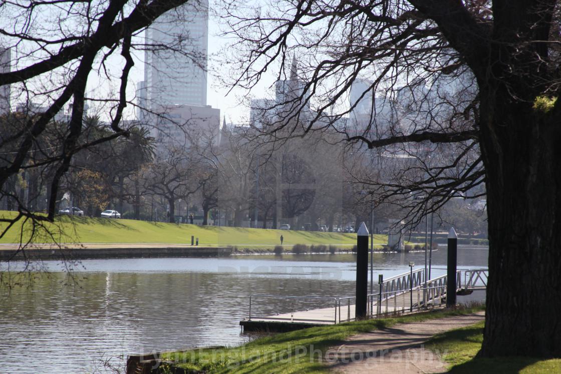 """""""Yarra riverside, Melbourne,"""" stock image"""