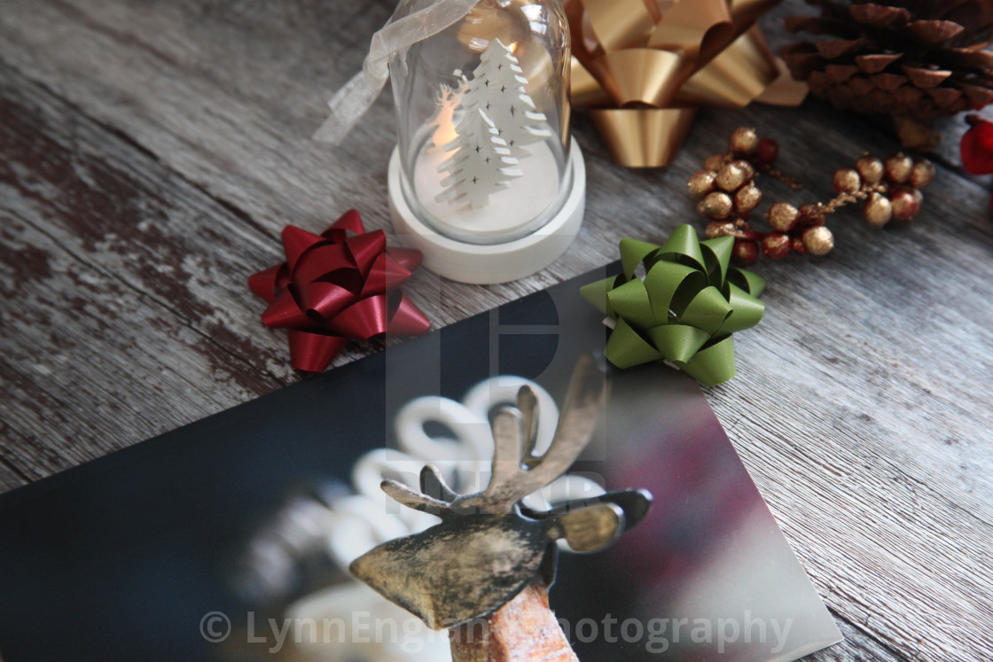 """""""Getting ready for Christmas"""" stock image"""