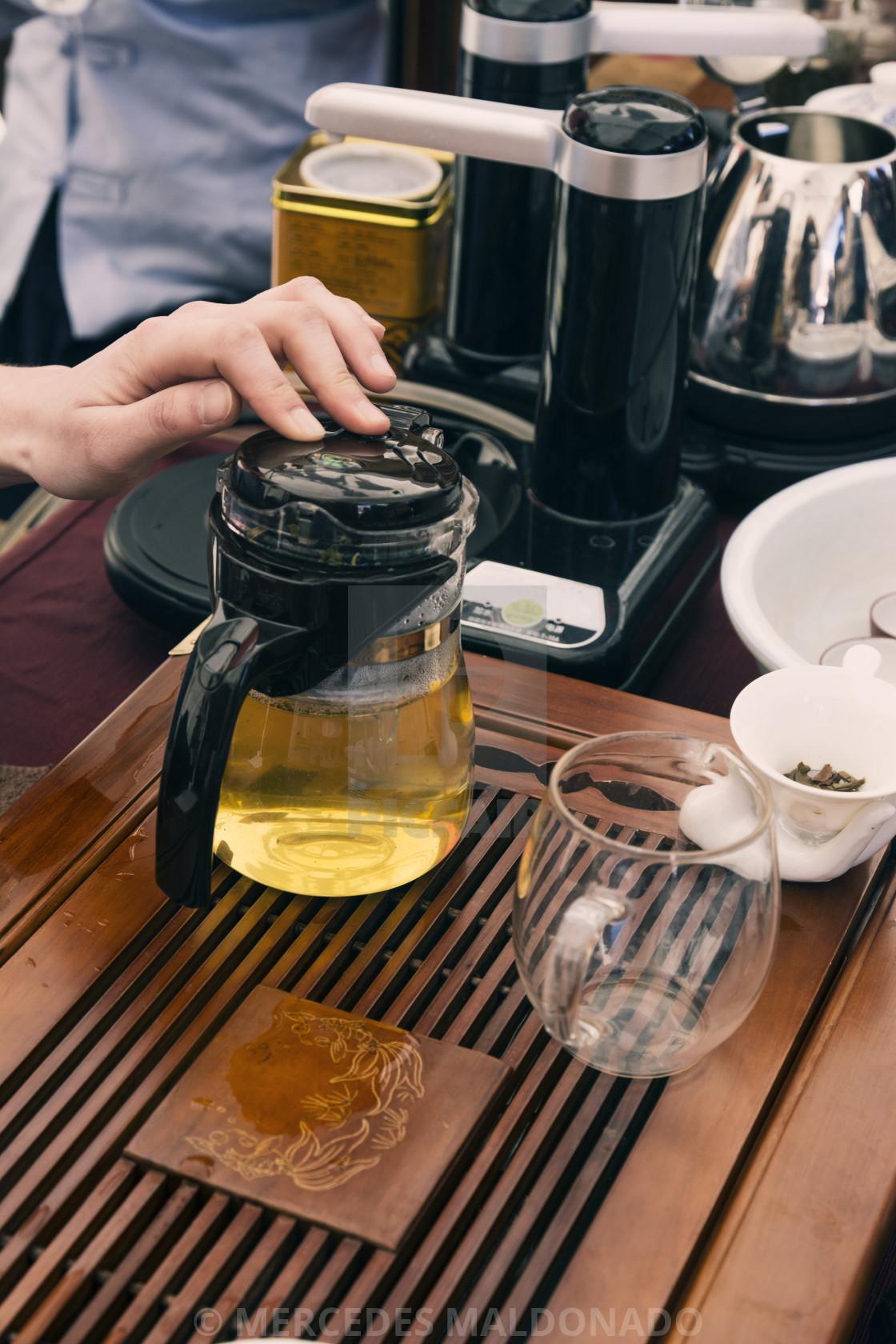 """Chinese tea set"" stock image"