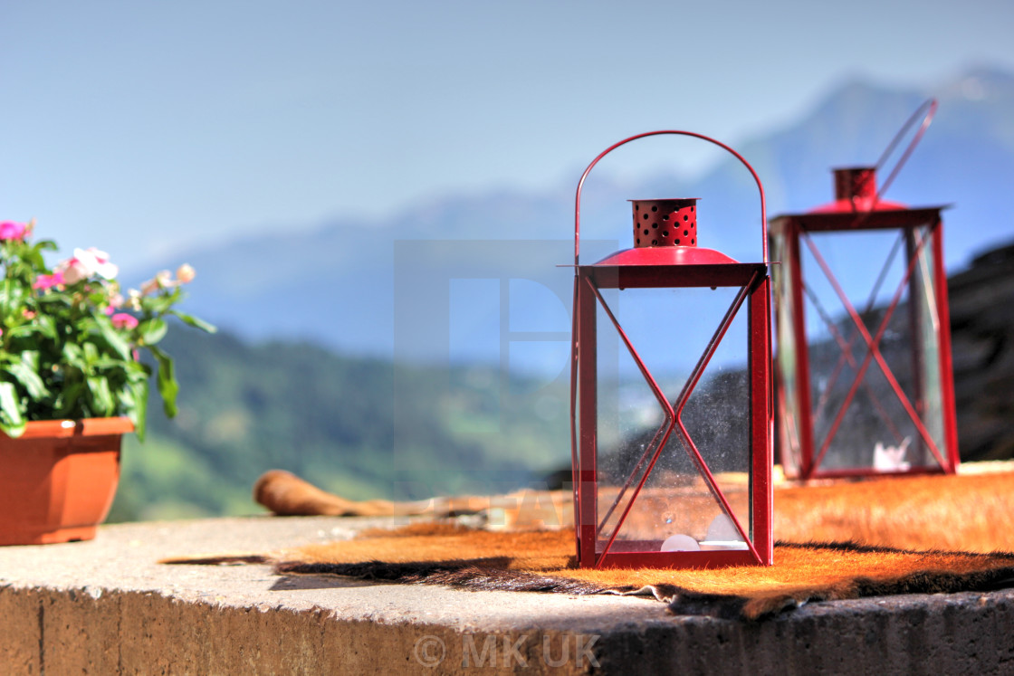 """Red lantern"" stock image"