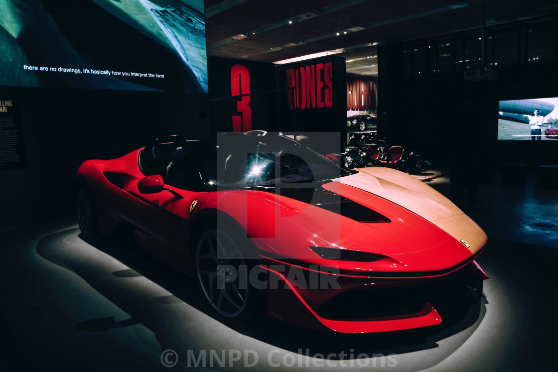 """Red Ferrari"" stock image"