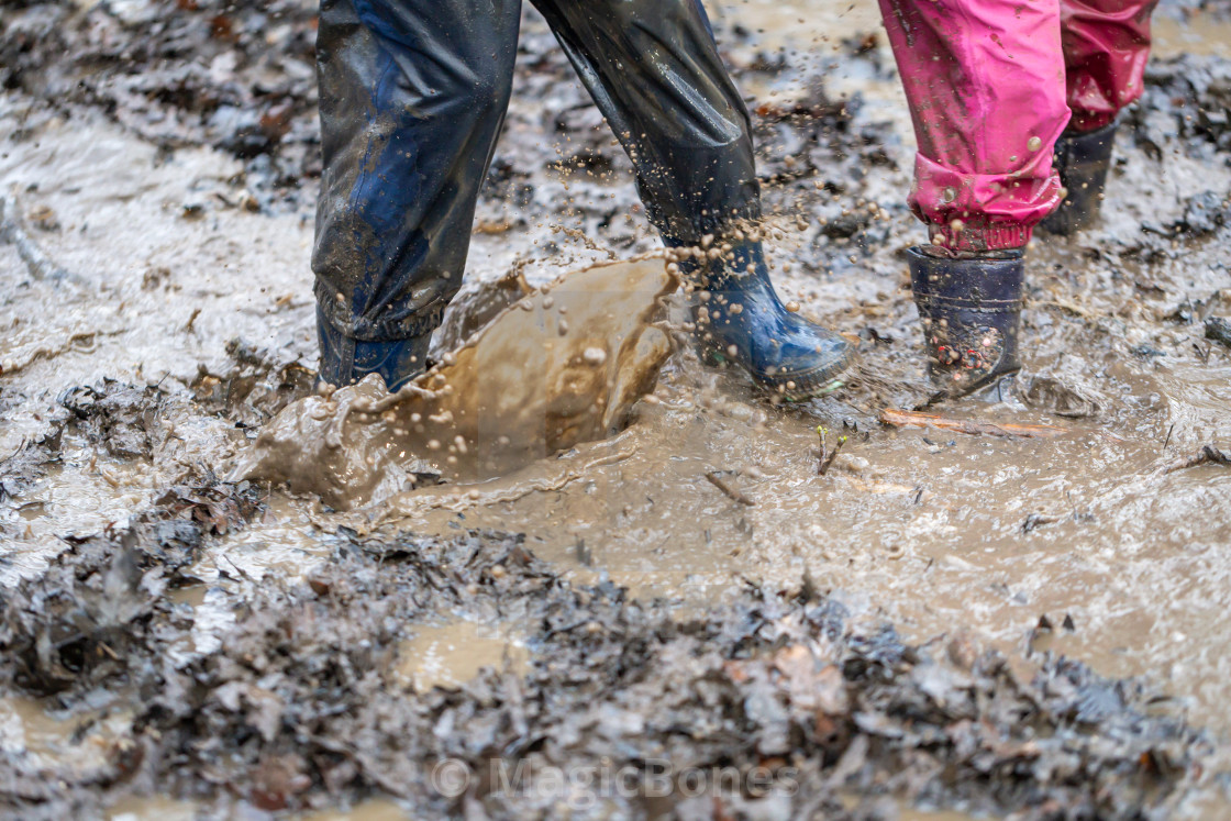 """""""Playing in Mud"""" stock image"""